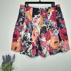 New York & Company Floral Skirt size 10